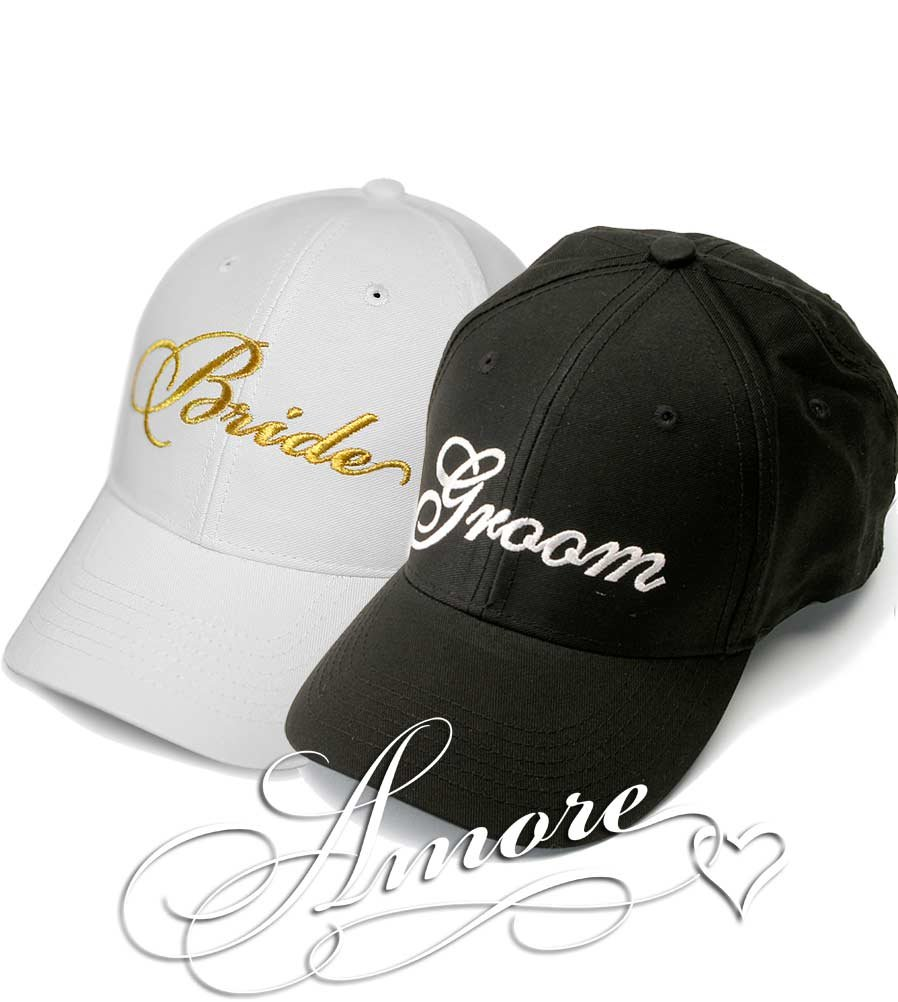 Bride And Groom Embroidered Baseball Hat