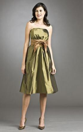 "Chocolate Brown Taffeta Siri Bridesmaid ""Right Bank Dress"" Sz 8"