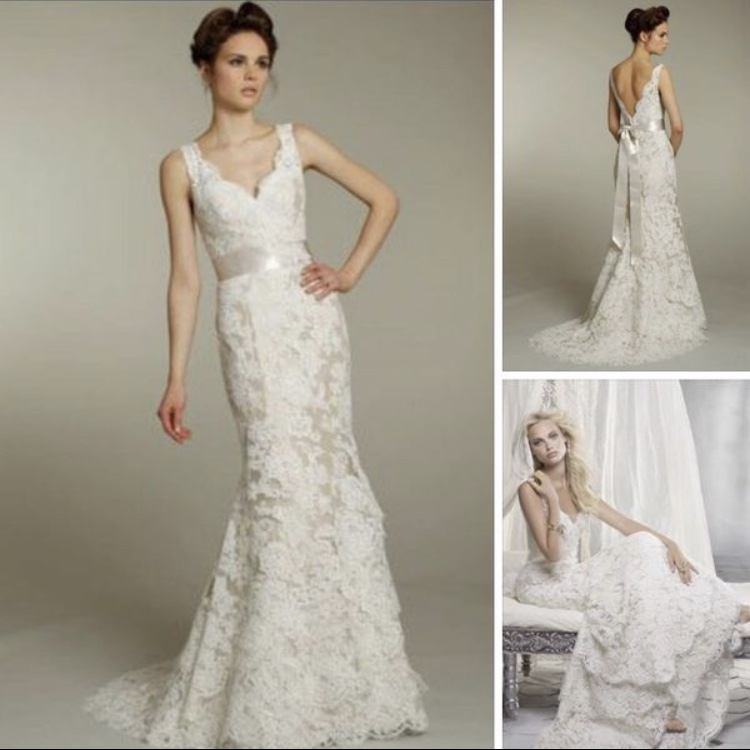 Alvina Vaenta - Alvina Valenta Alencon Lace Wedding Dress