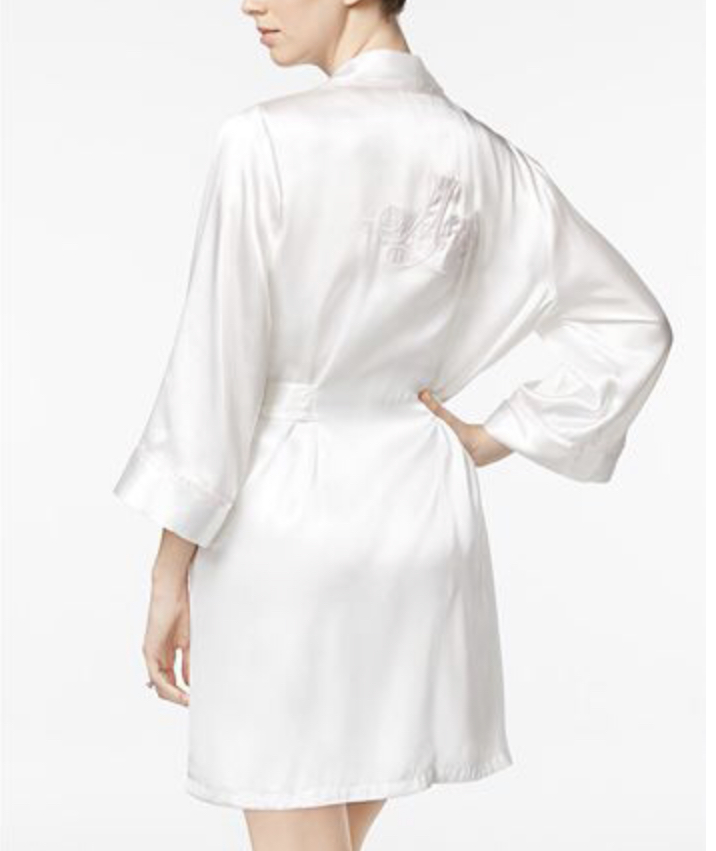 "White Satin ""mrs."" Robe"