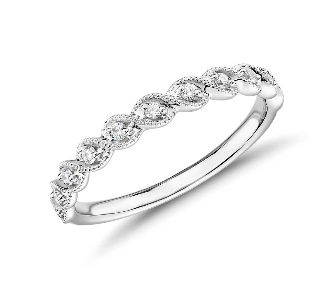 Truly Zac Posen Milgrain Rope Twist Diamond Ring