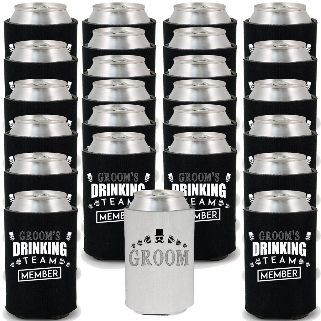 24 Pack Groom's Drinking Team Coozie