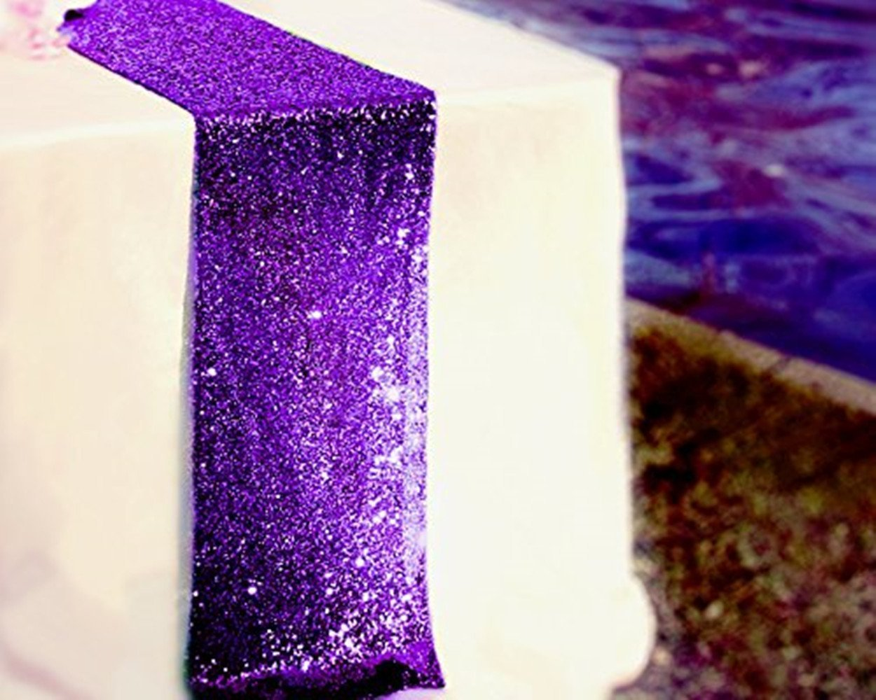 8 Pieces 12 By 108-inch Wedding Purple Sequin Table Runner,purple
