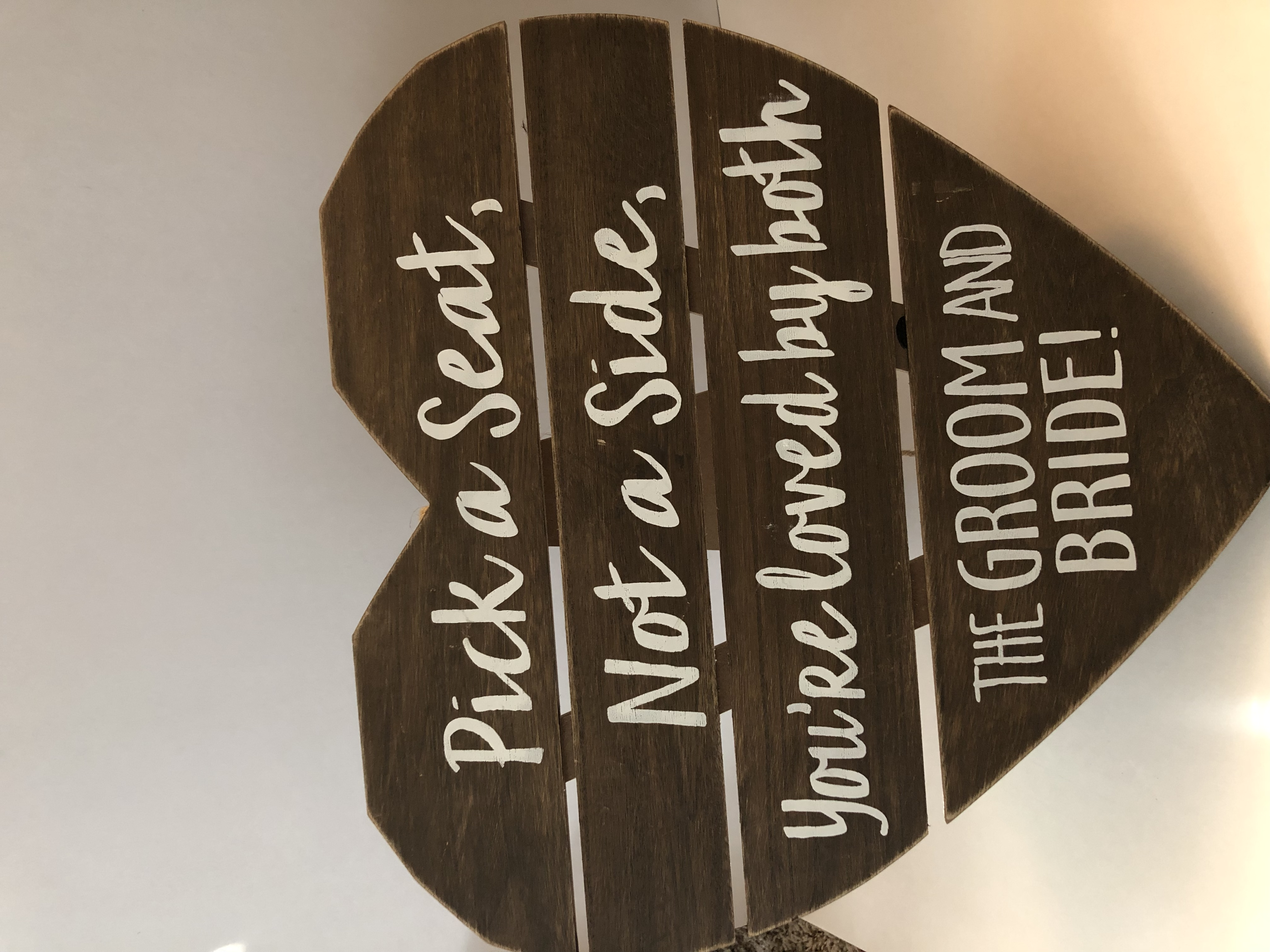 Heart Shaped Seating Sign