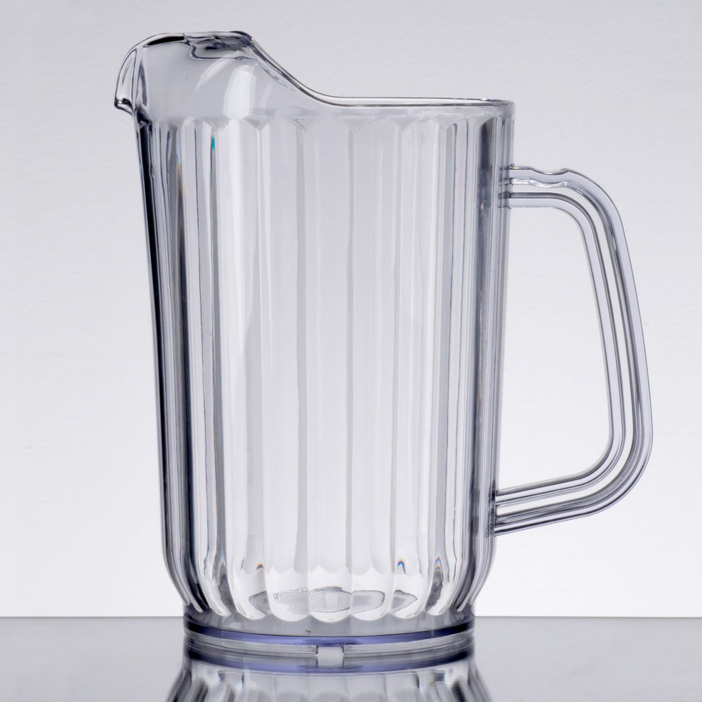 Twenty-four 32 Oz. Clear San Plastic Beverage Pitcher