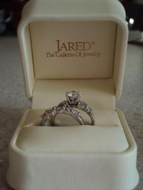 1.5 Carat, White Gold Wedding Rings - Jared Center Stone!!!