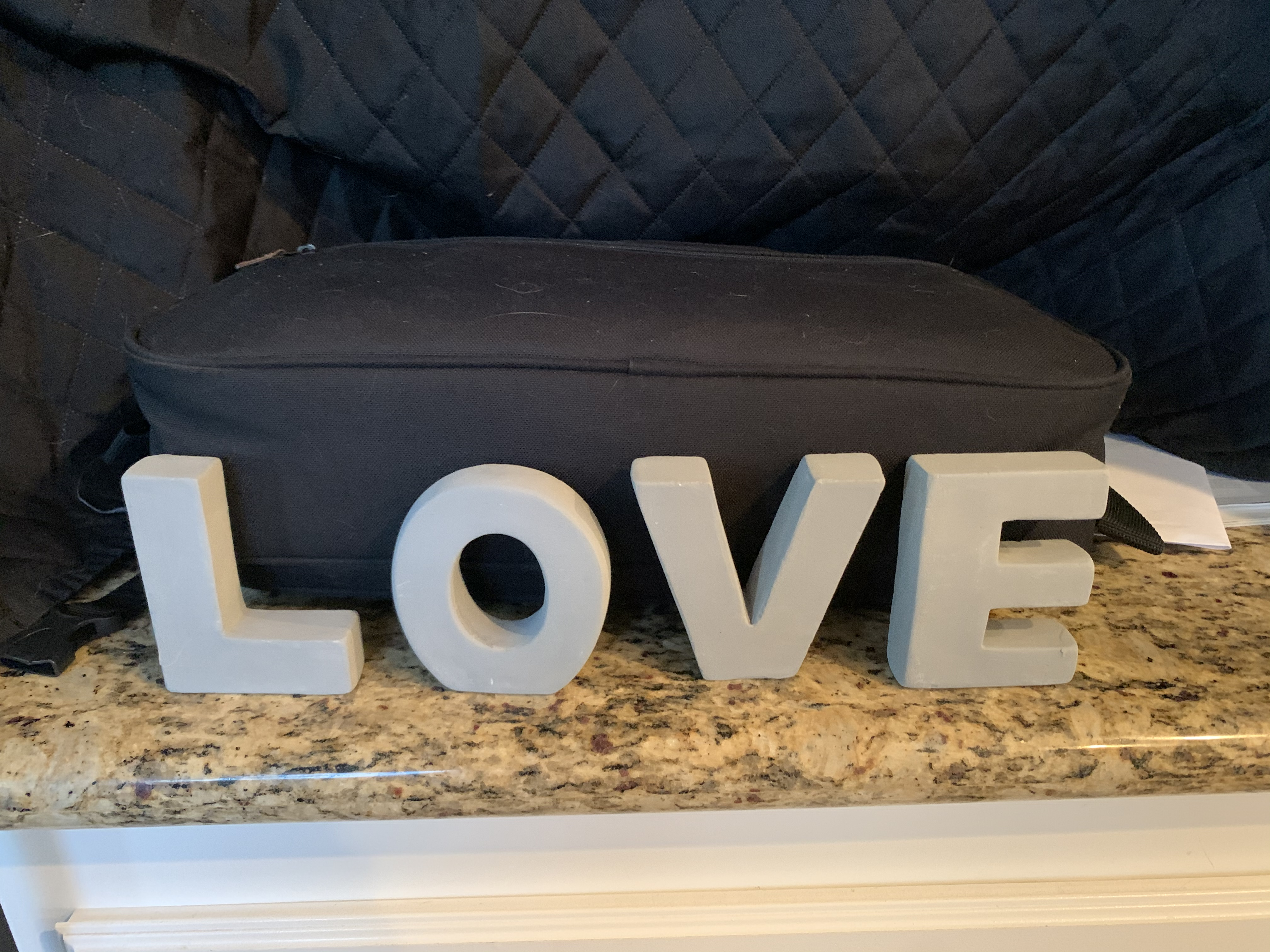 Grey Stone �love� Decoration