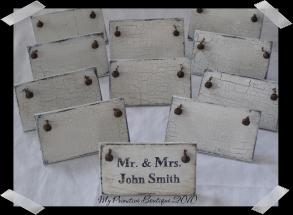 Personalized Cottage Wedding  Favors / Place Cards