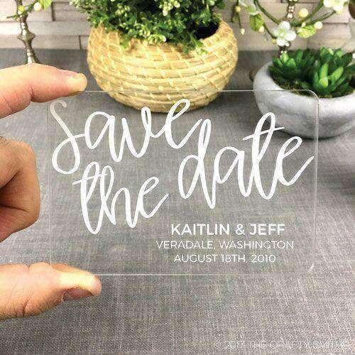 Save The Date Acrylic Cards