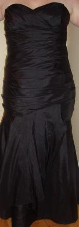 Wtoo Black Mermaid Bridesmaid Dress