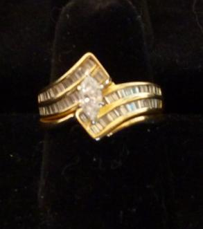 14kt. Gold, 1 Ct. Tw. Diamond Wedding Set