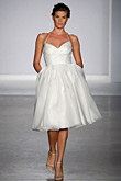 Priscilla of Boston - Knee Length Wedding Gown