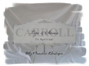 Personalized Newlywed Sign