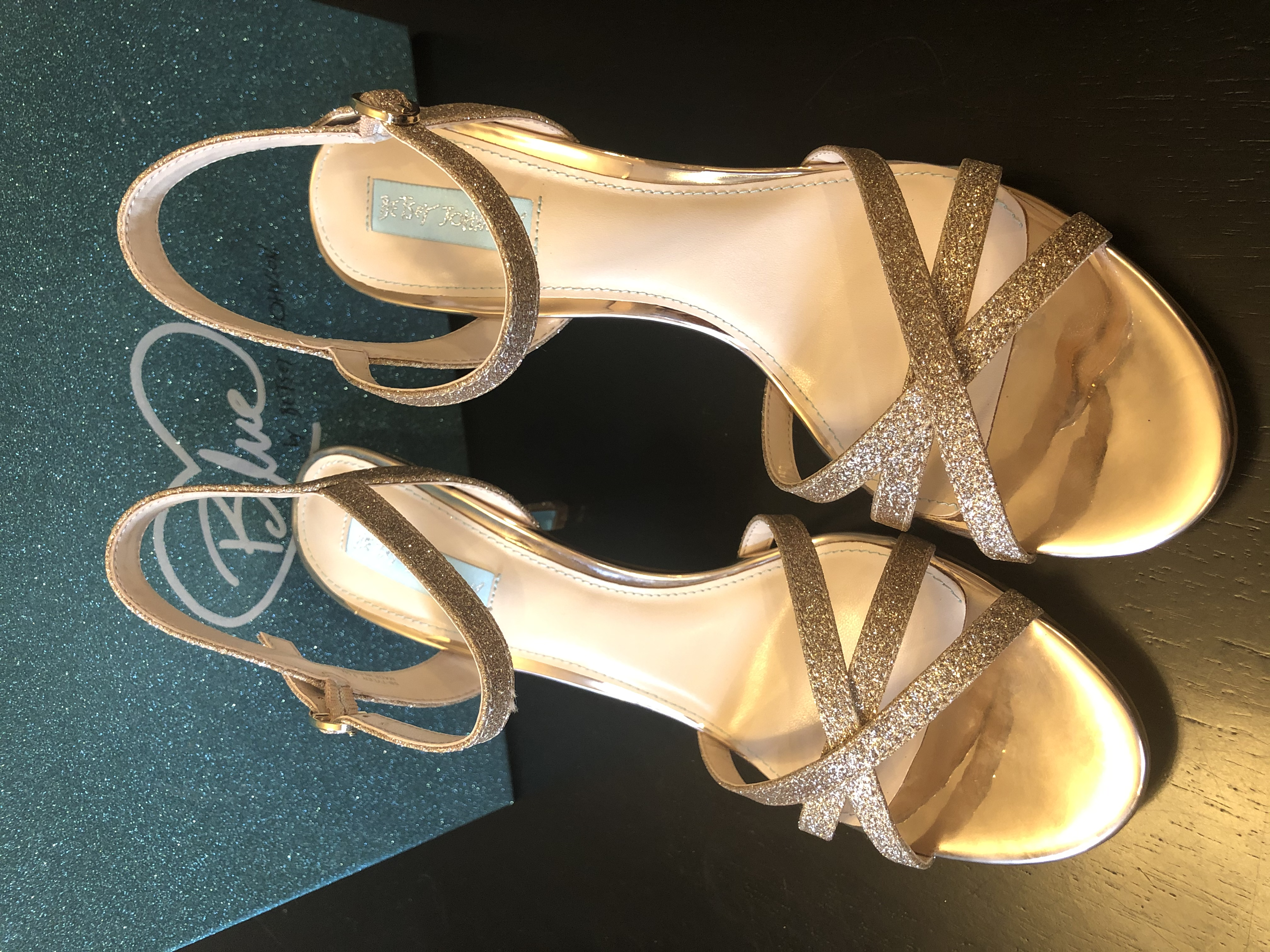 Betsey Johnson Champagne Strappy Heels
