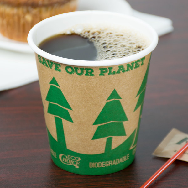 150 Compostable 10 Oz. Hot Cups And Lids