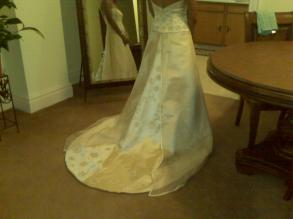 Anne Barge Couture Silk And Satin Gown