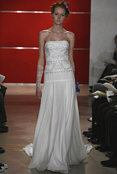 Reem Acra Strapless Dress