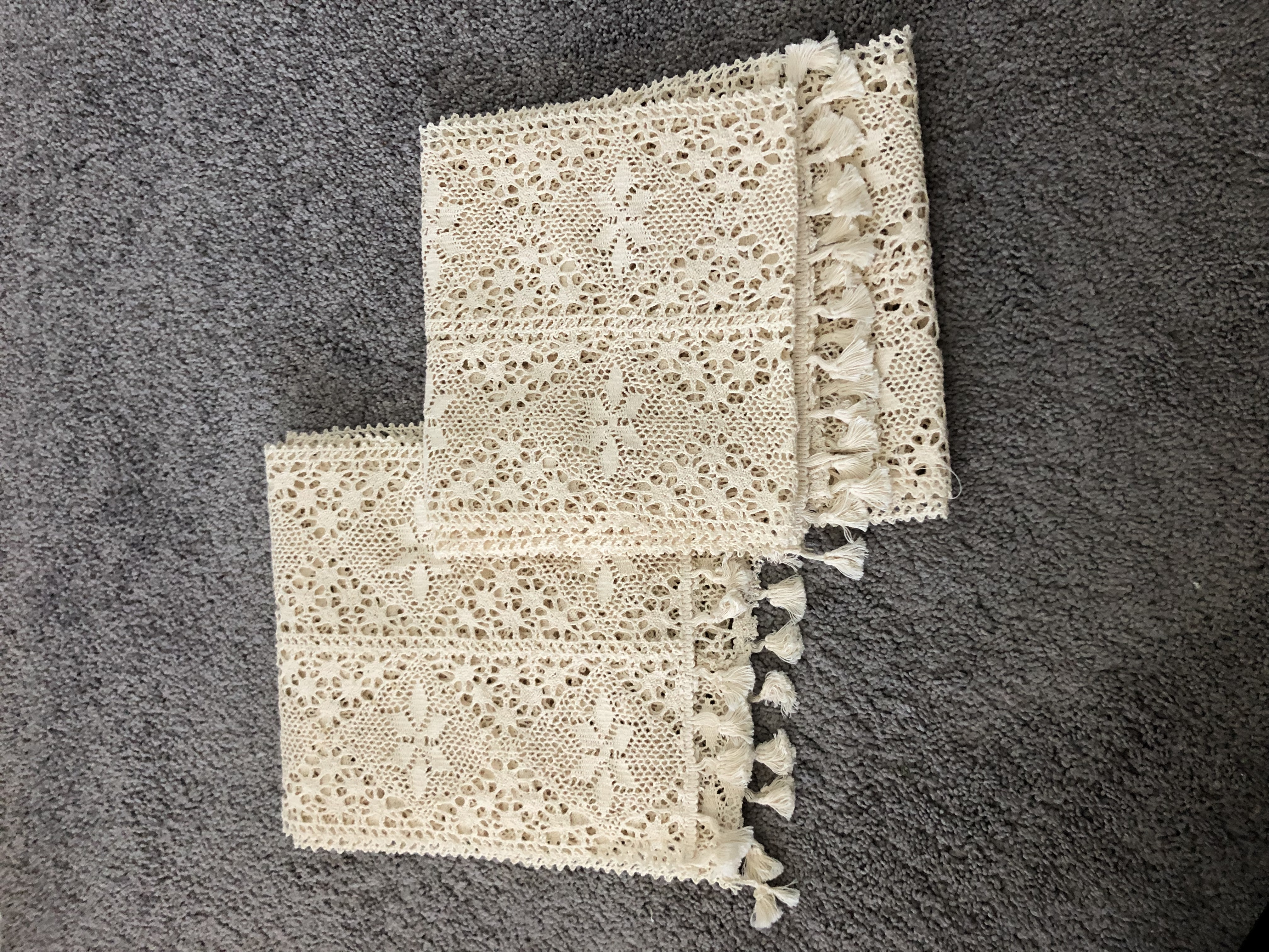 Knit Table Runners -set Of 2
