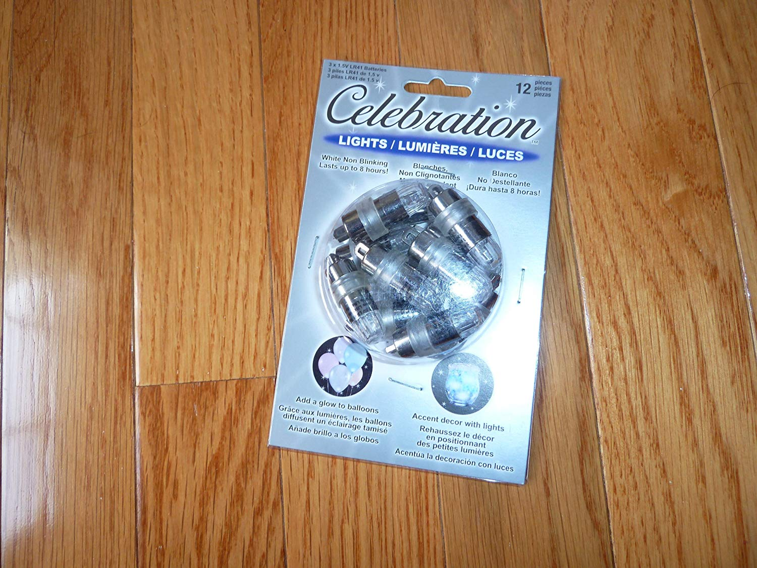 Celebration Lights White Non Blinking- 2 Packs Of 12