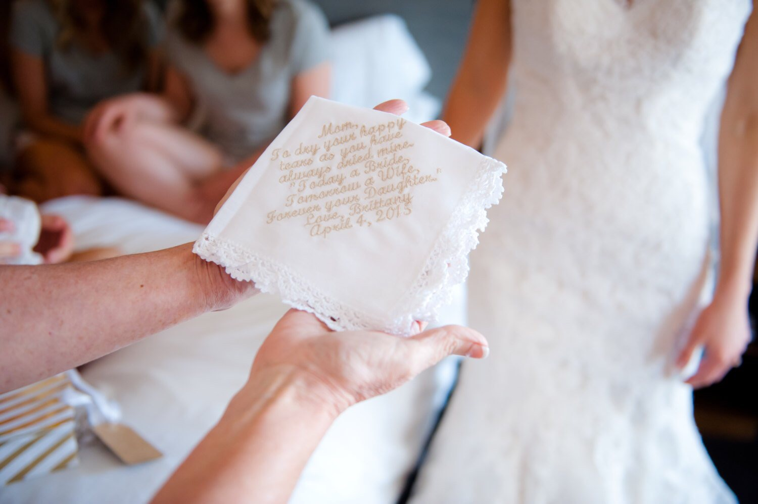 Custom Personalized Wedding Handkerchief Gift
