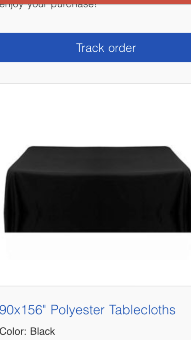 Black 90 By 156 Inch Polyester Tablecloths (5 Total) New