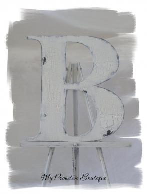 Shabby Chic Cottage Wooden Letter ~ Any Letter A Thru Z