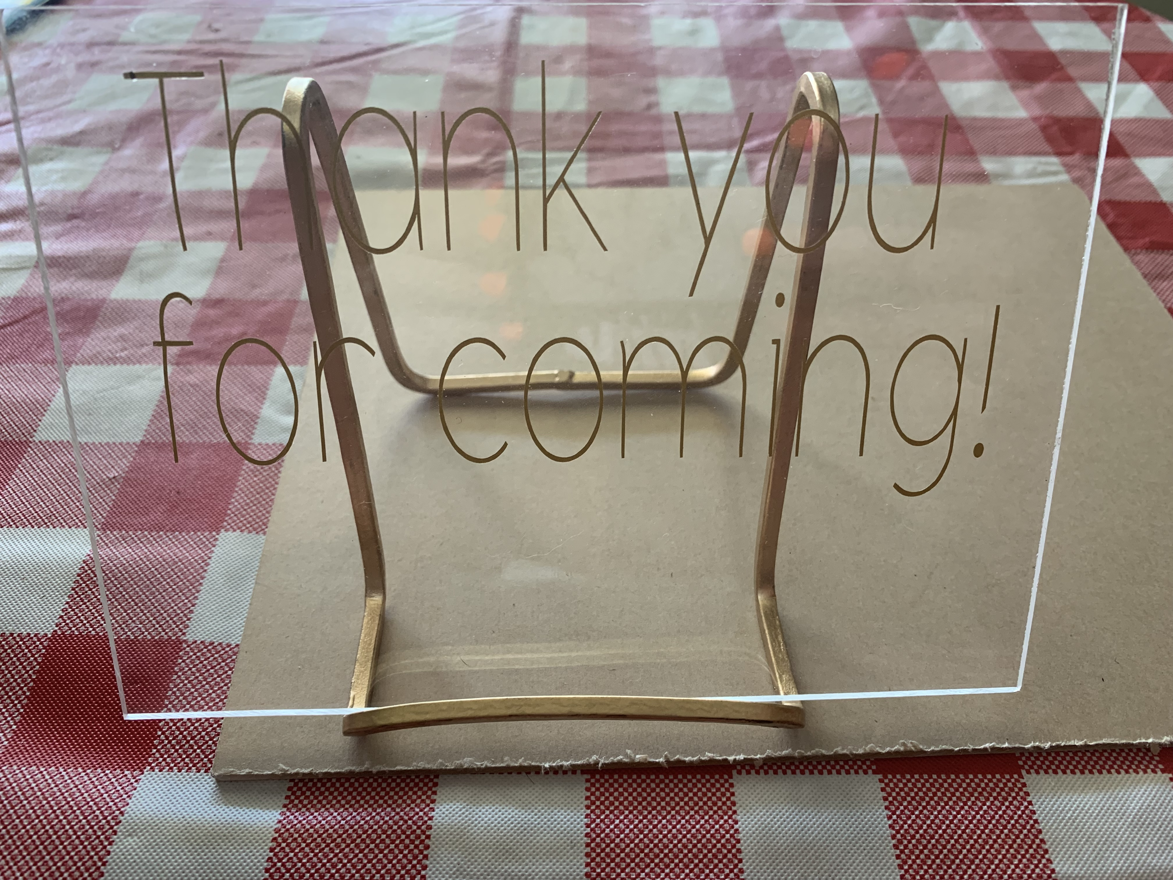 Acrylic Signs �thank You For Coming�