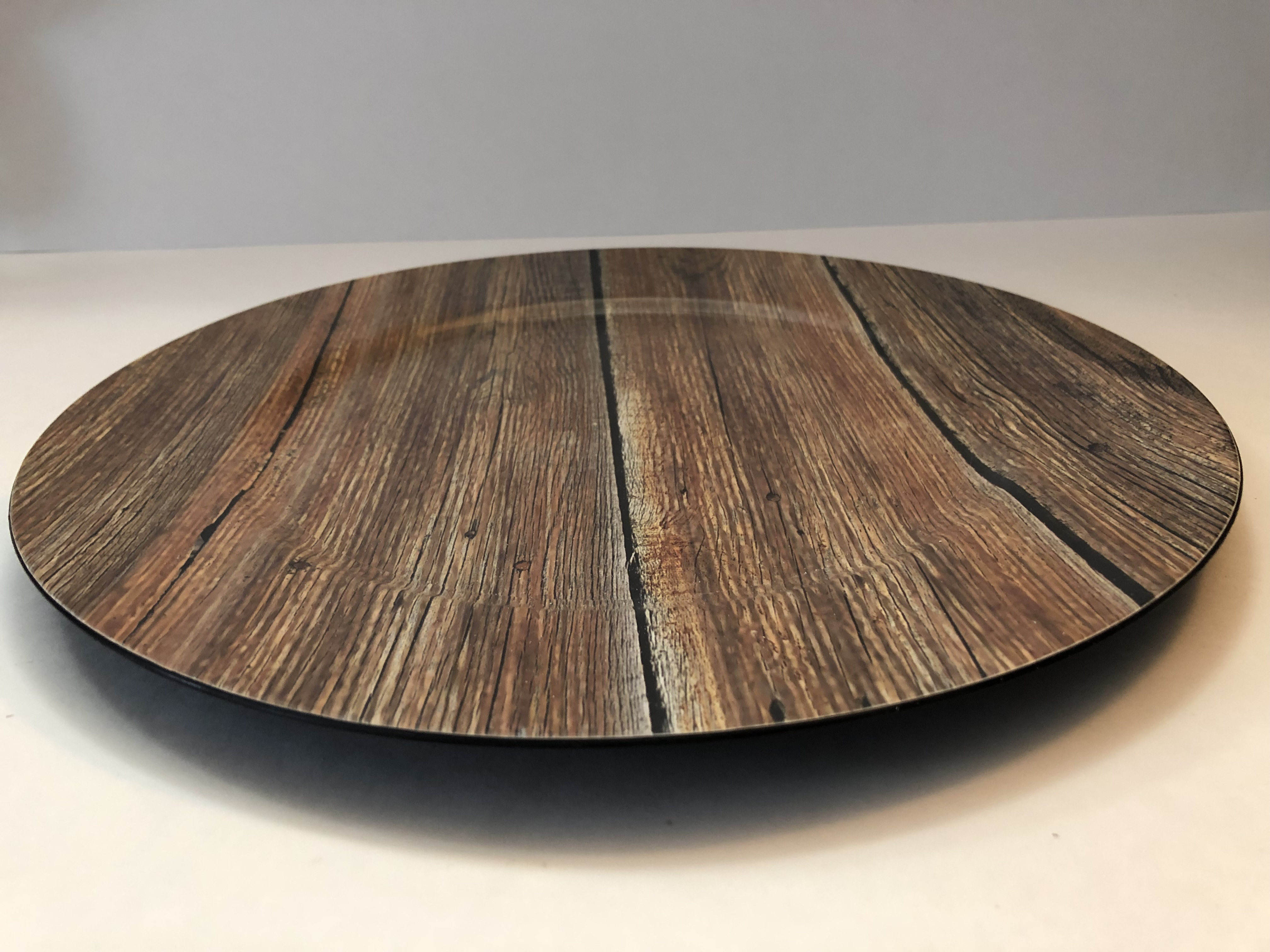 Wood Printed Charger Plate