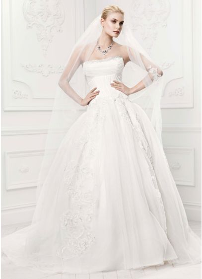 Zac Posen Truly - Wedding Dress - Tulle Ball Gown - Size 10