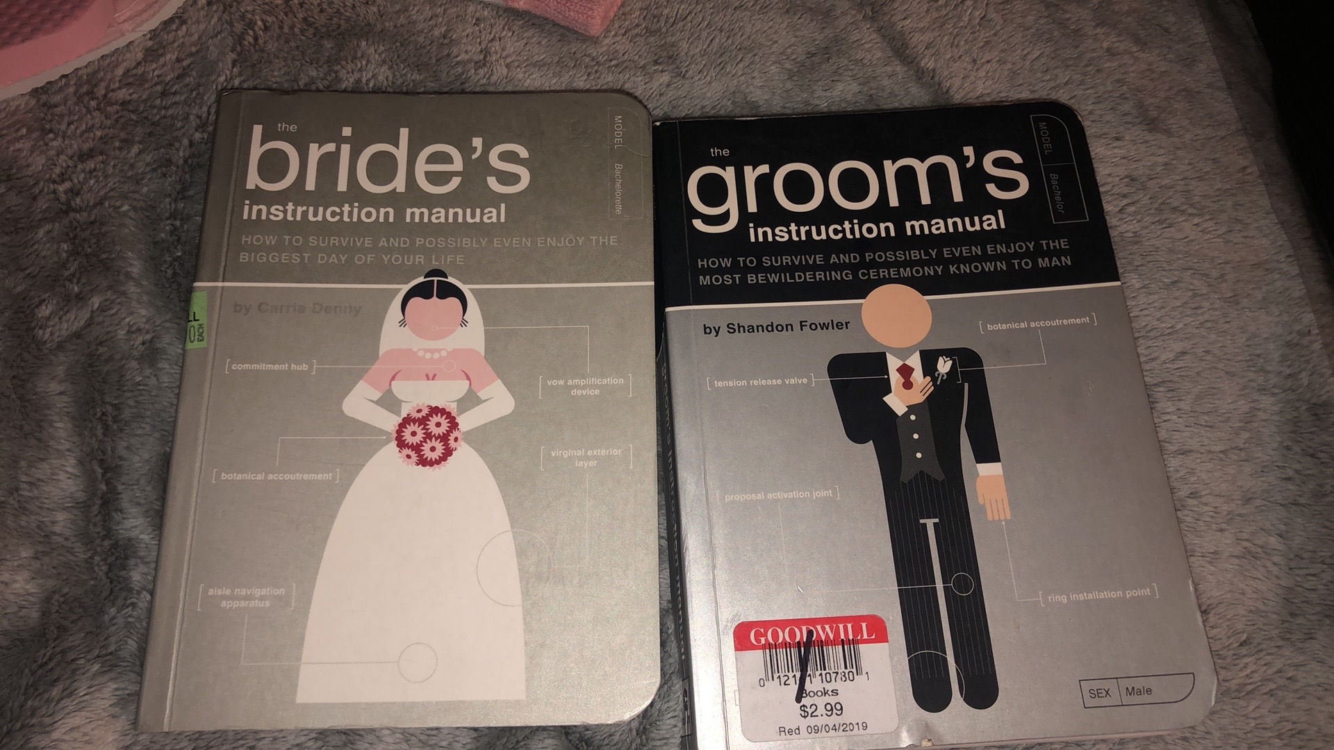 Bride And Groom Instruction Manuals