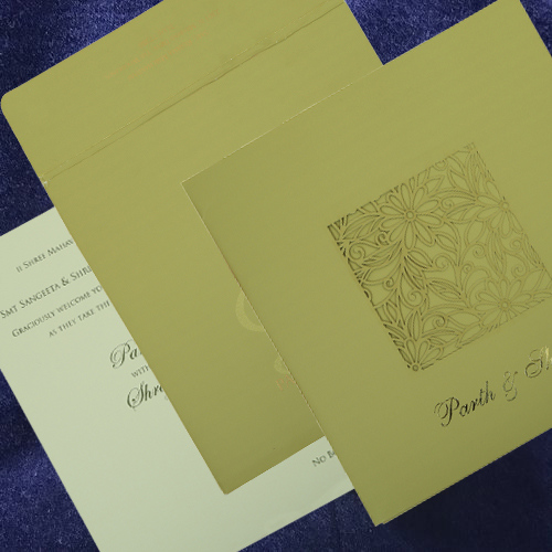 Trendy Online Laser Cut Wedding Invitation Cards