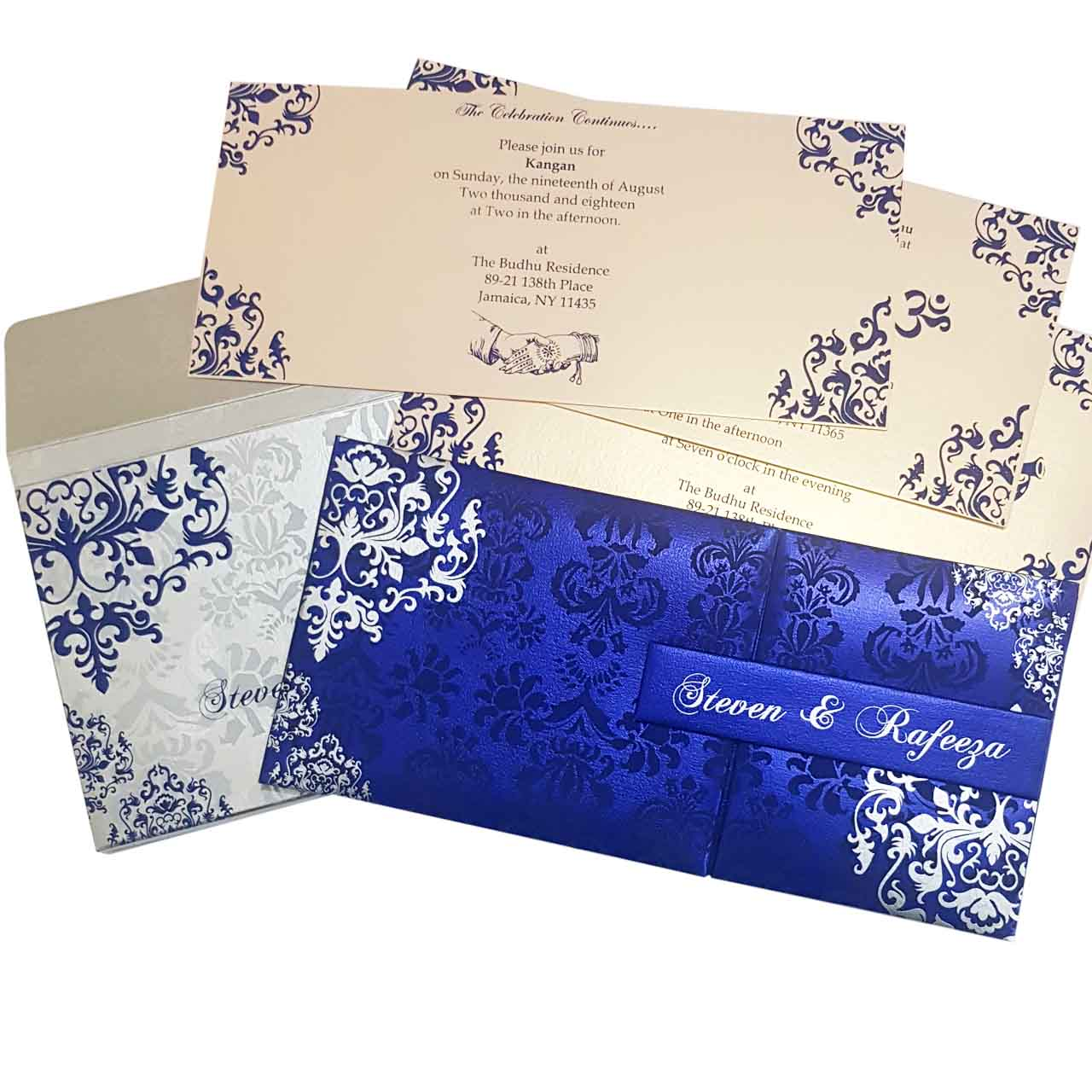 Dazzling Padded Indian Wedding Cards