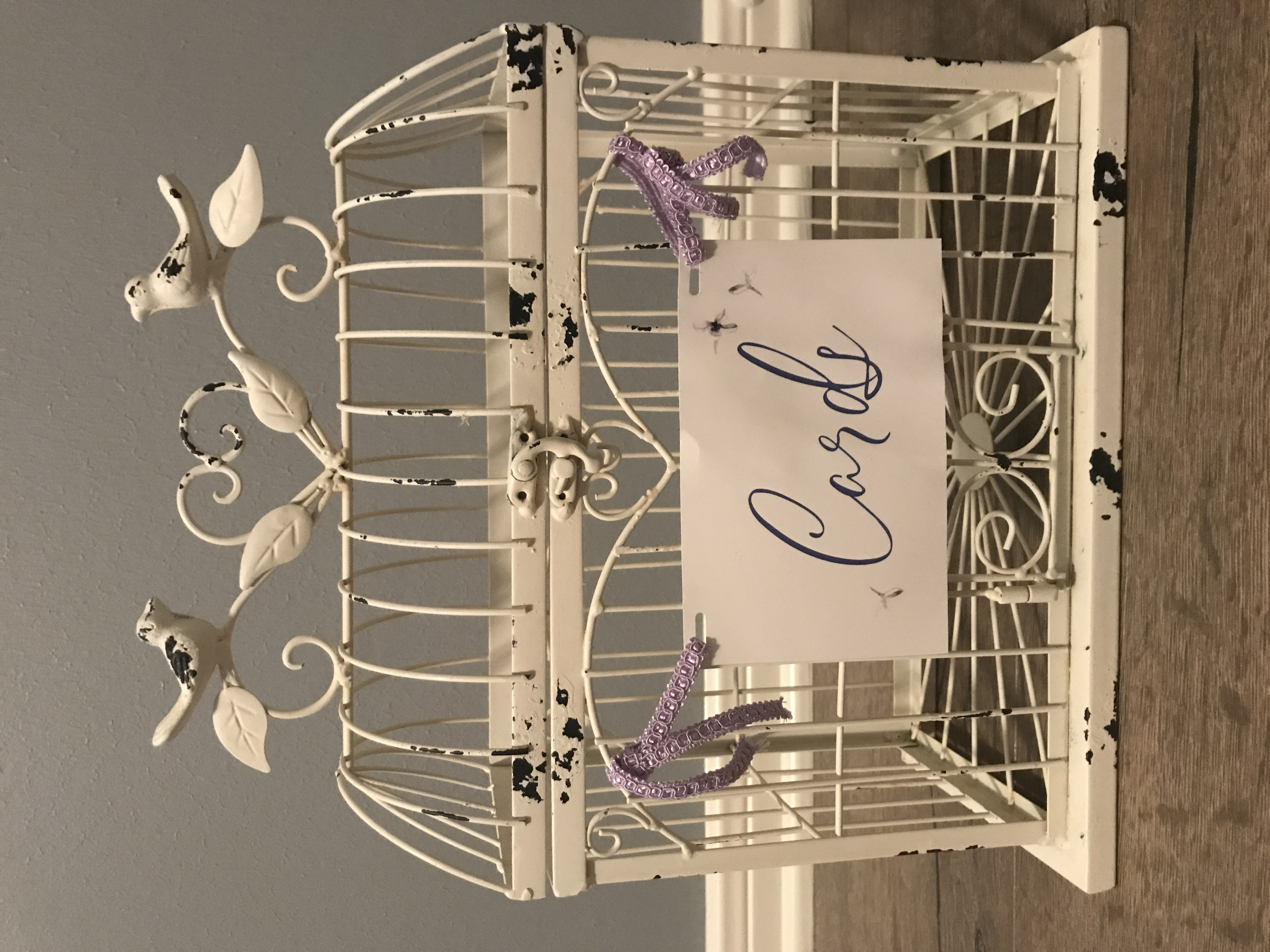 Bird Cage Wedding Card Holder (with Sign)