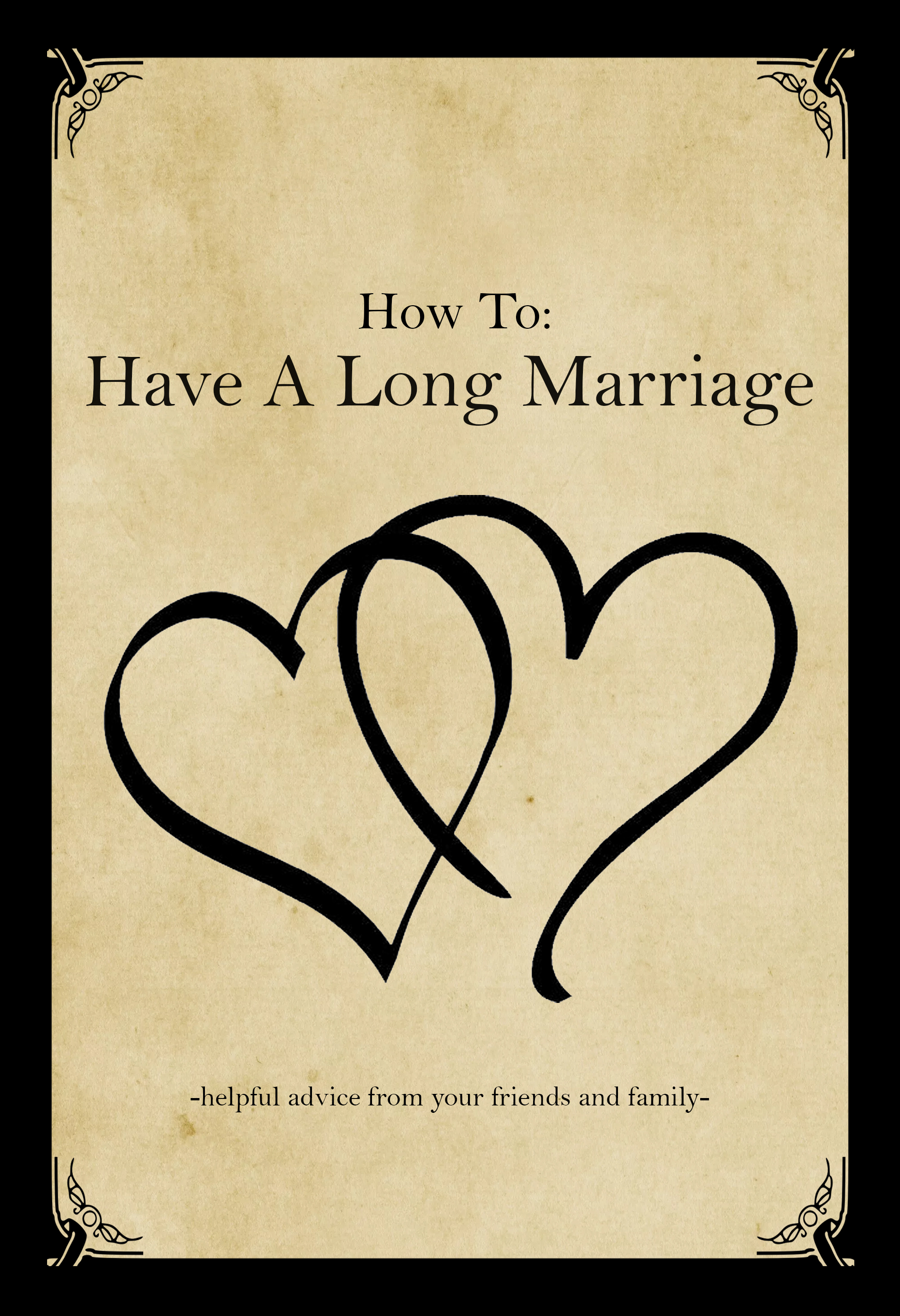 How To Have A Long Marriage Keepsake Book, wonderful gift!