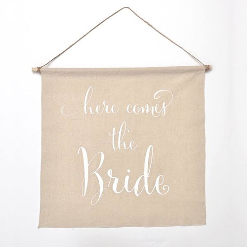 Linen Wedding Sign