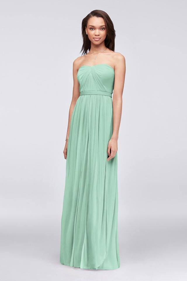 David's Bridal - Nwt Mint Versa Convertible Mesh Dress Size 22