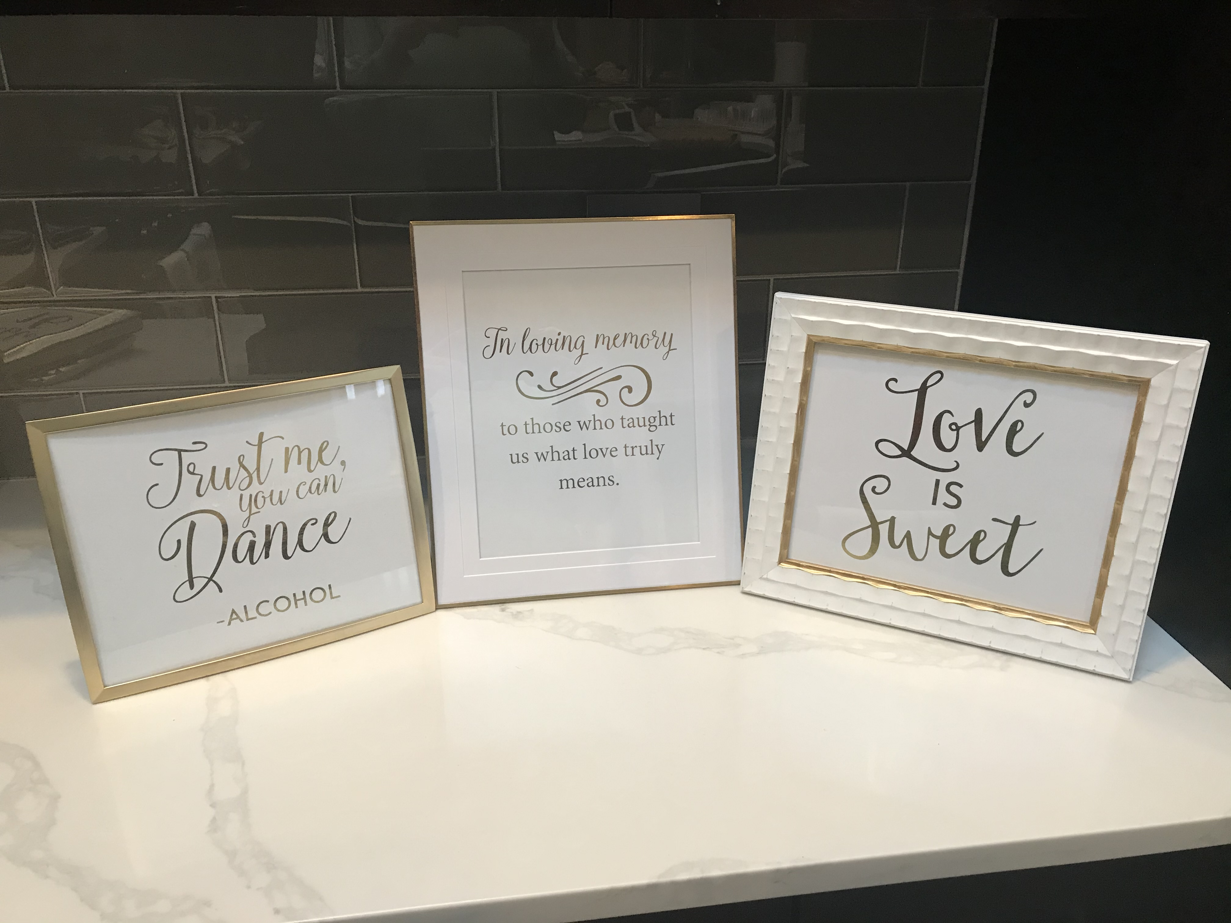 Gold Foil Signs