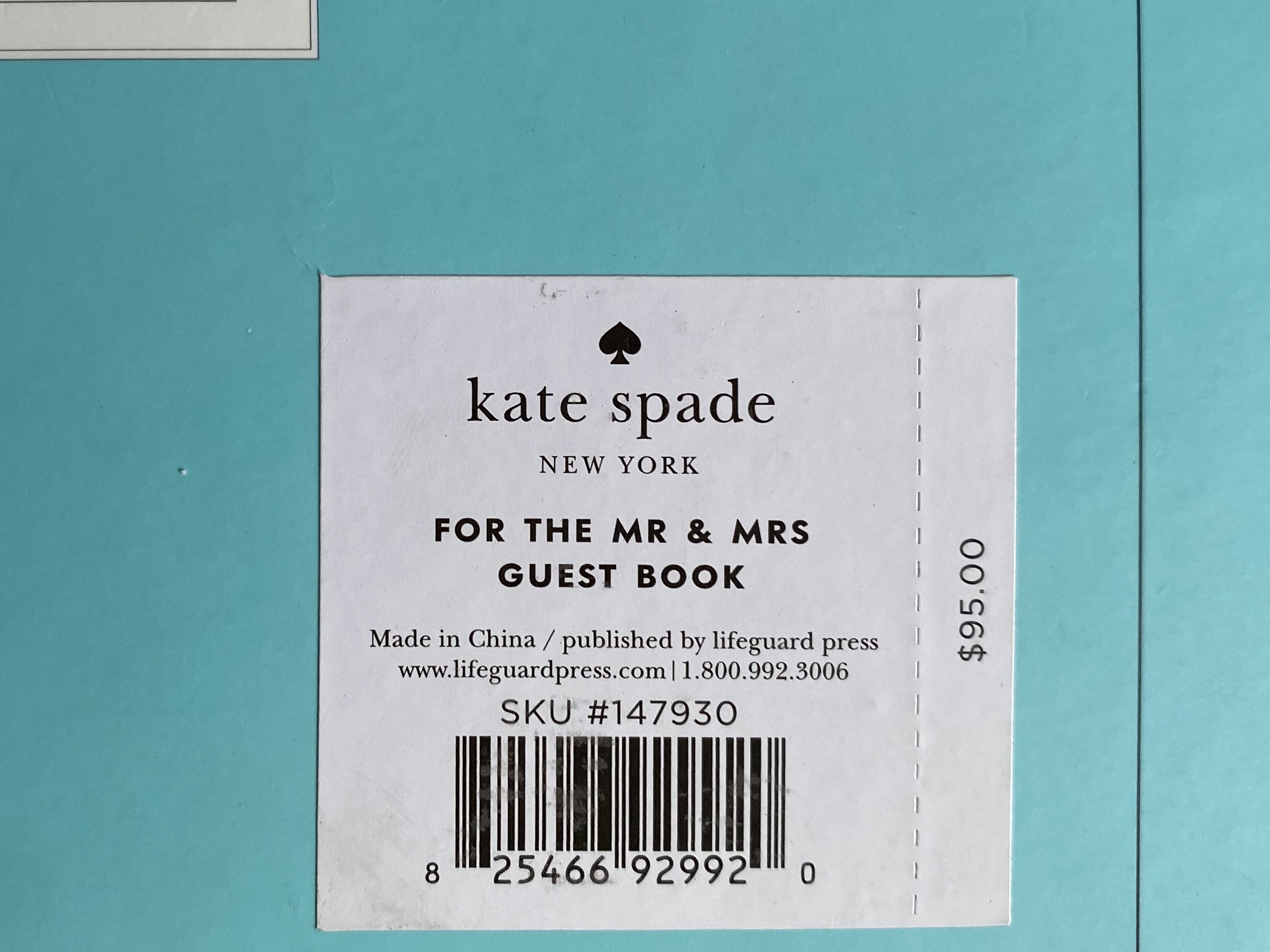 Kate Spade For The Mr. & Mrs. Ivory Linen Guestbook