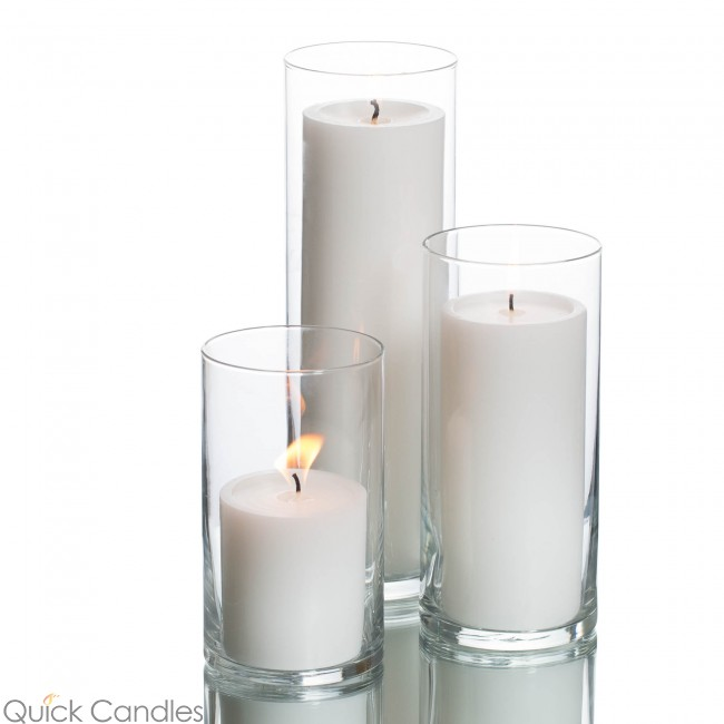 Eastland Cylinder Pillar Candle Holders (6 Of Each)
