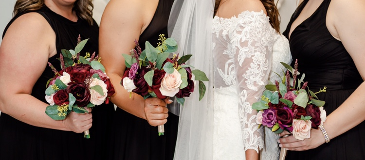 3 Hand-tied Bridesmaid Bouquets