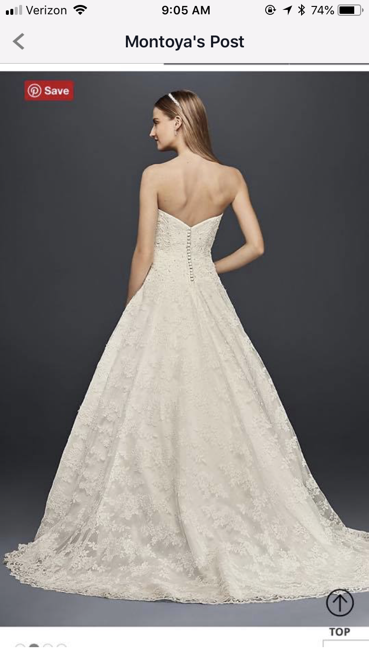 David's Bridal - Size 14 Wedding Dress