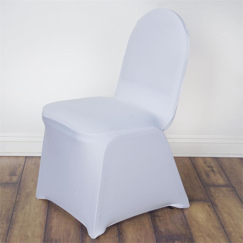 60 White Spandex Chair Covers