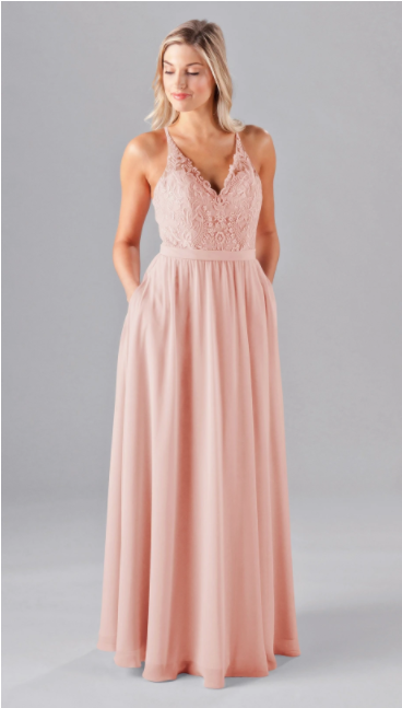 Mori Lee - Kennedy Blue  Bridesmaids Dress In The Color Peach