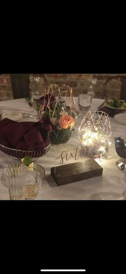 Rose Gold Candle Holders/centerpieces