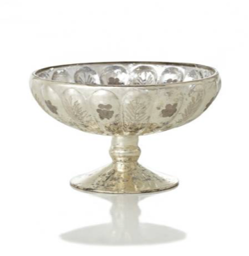 Mercury Glass Compote Dish