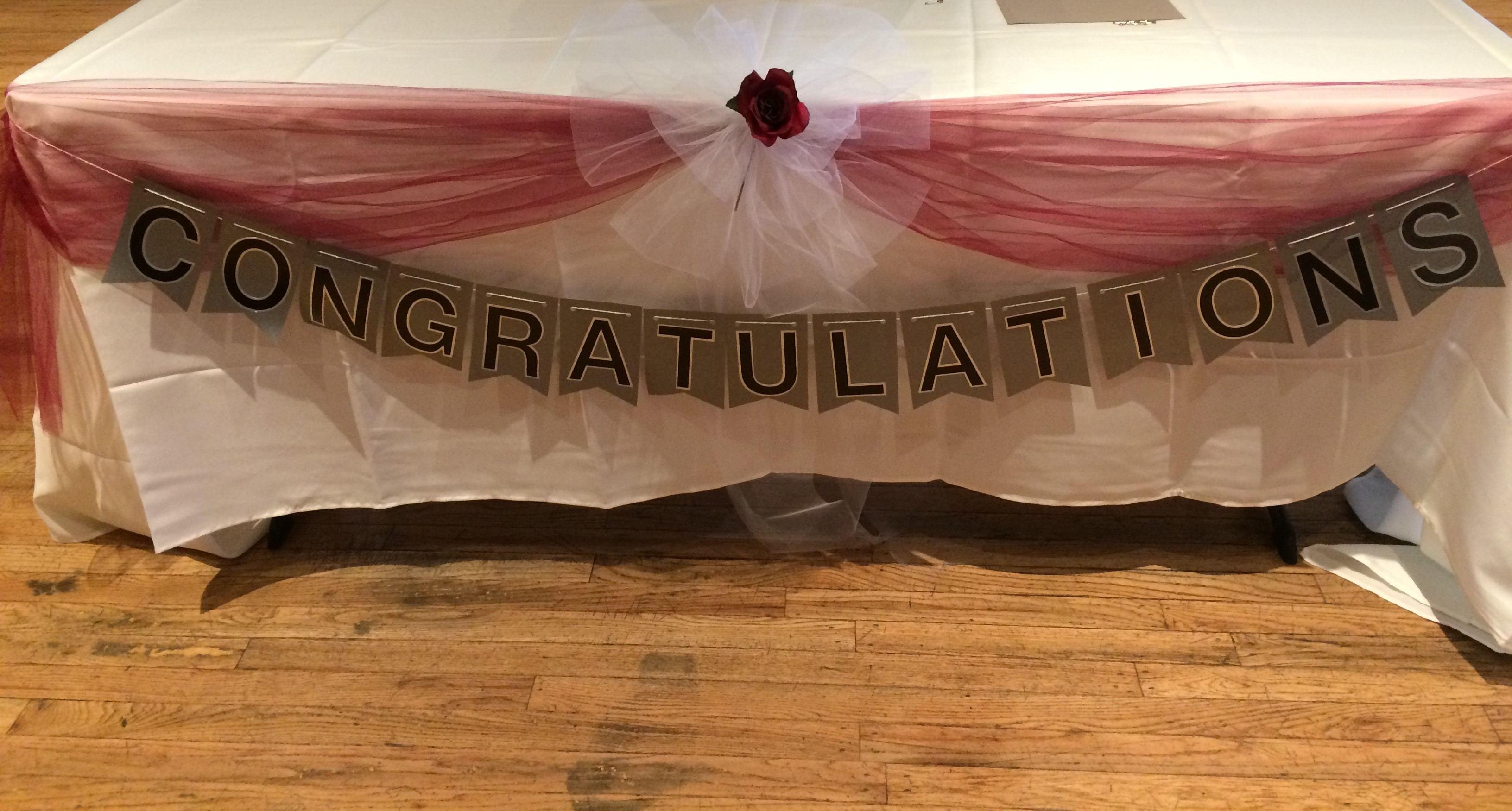 Congratulations And Best Wishes To The New Mr & Mrs Banners