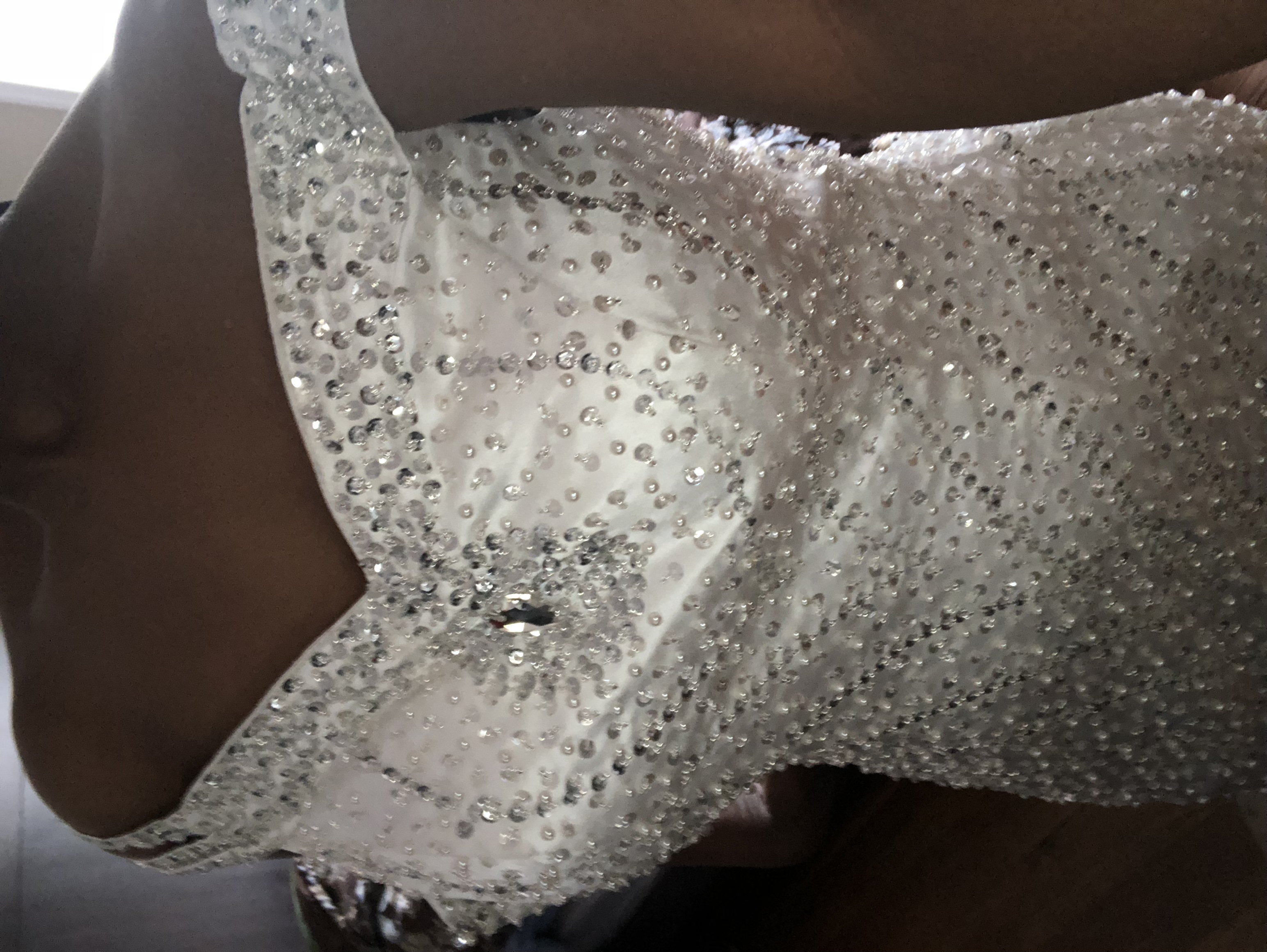 Never Used Ivory Bridal Gown With Sequins And Train