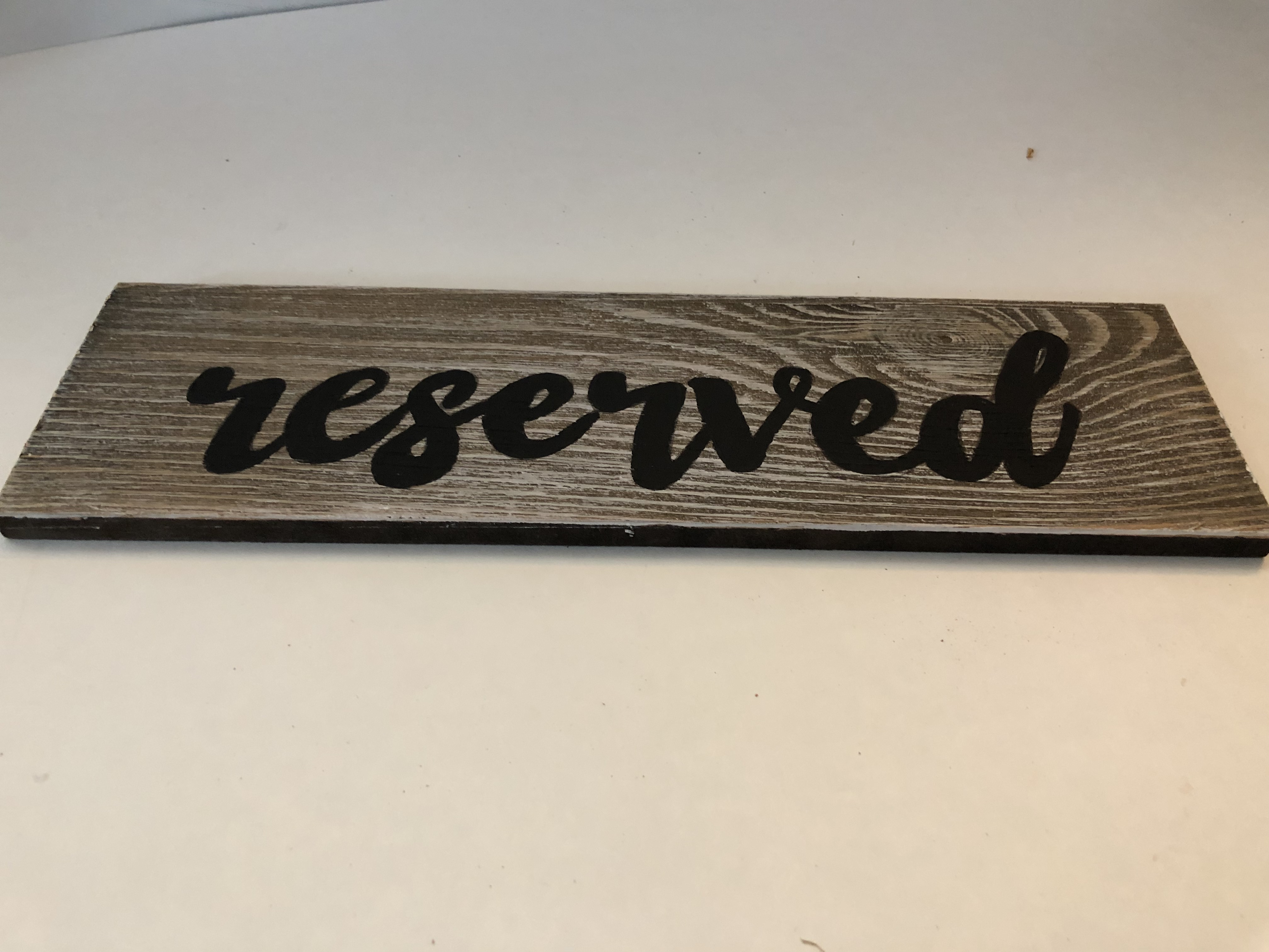 Wooden Reserved Signs