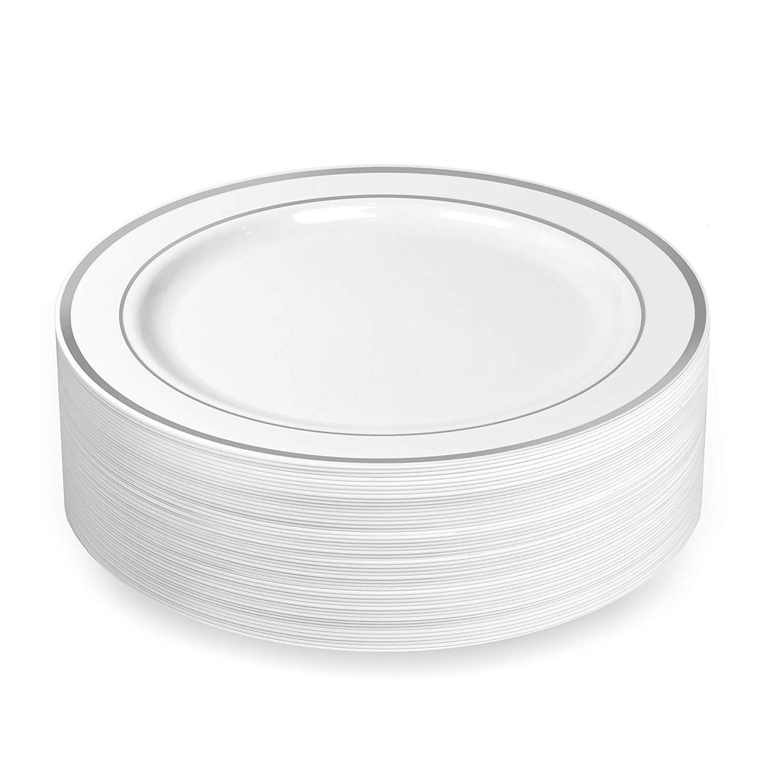 40 Plastic Disposable Dinner Plates