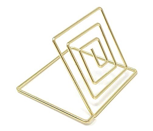 Modern Gold Wire Placecard Holders - Set Of 20